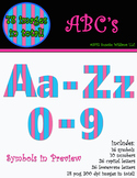 Alphabet Clip Art, Numbers, and Symbols: pink and blue striped pattern
