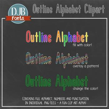 Alphabet Clip Art: Outline Alphabet