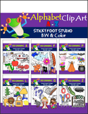 Beginning Sounds Clip Art - Alphabet Clip Art (358 graphics)