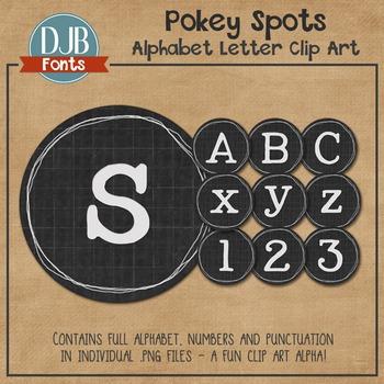 Alphabet Clip Art: Pokey Spots Alphabet Letters