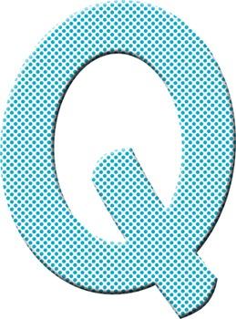 Alphabet Clip Art Polka Dots