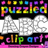 Alphabet Clip Art Puzzle Effect