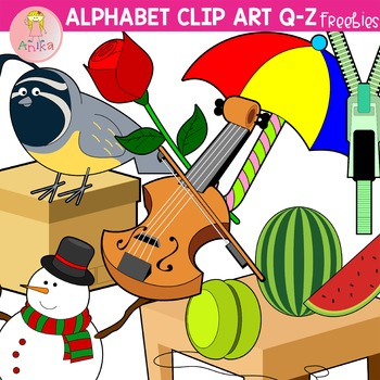 Alphabet Clip Art Q-Z Freebies