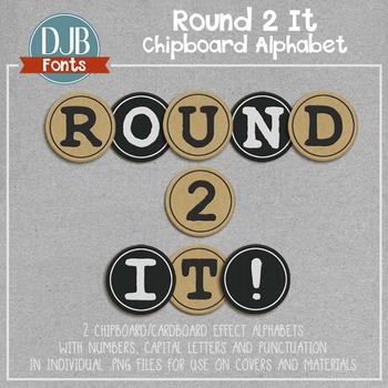 Alphabet Clip Art: Round 2 It Chipboard / Cardboard Alphab