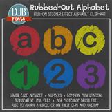 Alphabet Clip Art: Rubbed Out Alphabet Letters