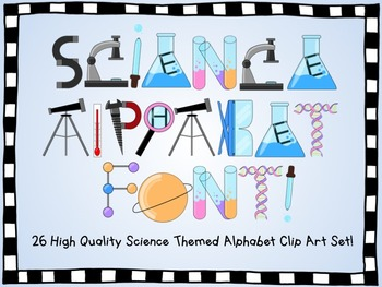 Alphabet Clip Art- Science themed