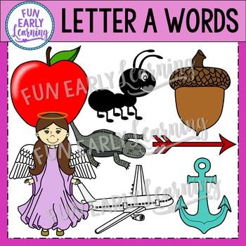Alphabet Clip Art Set Letter A / Beginning Sounds - Phonics Clip Art Set