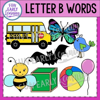 Alphabet Clip Art Set Letter B / Beginning Sounds - Phonics Clip Art Set