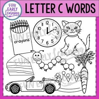 Alphabet Clip Art Set Letter C / Beginning Sounds - Phonics Clip Art Set