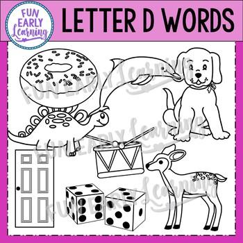 Alphabet Clip Art Set Letter D / Beginning Sounds - Phonics Clip Art Set