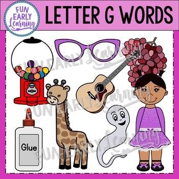 Alphabet Clip Art Set Letter G / Beginning Sounds - Phonics Clip Art Set
