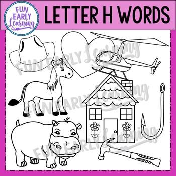 Alphabet Clip Art Set Letter H / Beginning Sounds - Phonics Clip Art Set