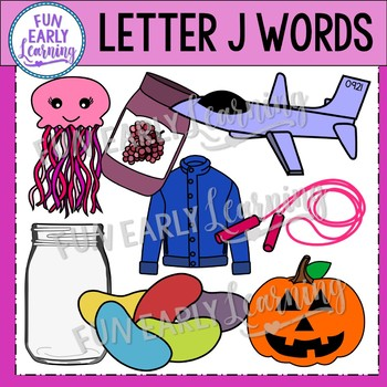 Alphabet Clip Art Set Letter J / Beginning Sounds - Phonics Clip Art Set