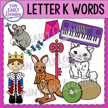 Alphabet Clip Art Set Letter K / Beginning Sounds - Phonics Clip Art Set