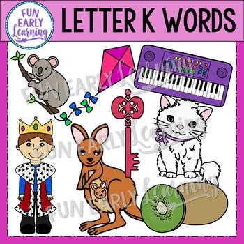 Alphabet Clip Art Set Letter K / Beginning Sounds - Phonics Clip Art Set