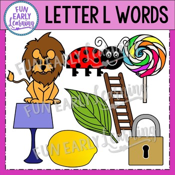 Alphabet Clip Art Set Letter L / Beginning Sounds - Phonics Clip Art Set