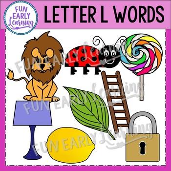 Alphabet Clip Art Set Letter L / Beginning Sounds - Phonics Clip Art Set