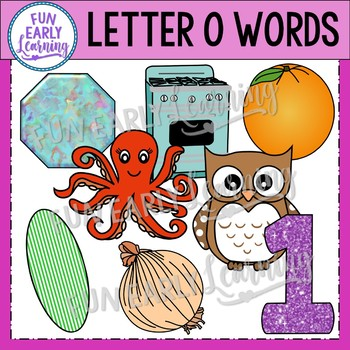 Alphabet Clip Art Set Letter O / Beginning Sounds - Phonics Clip Art Set