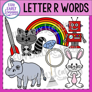 Alphabet Clip Art Set Letter R / Beginning Sounds - Phonics Clip Art Set