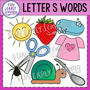Alphabet Clip Art Set Letter S / Beginning Sounds - Phonics Clip Art Set