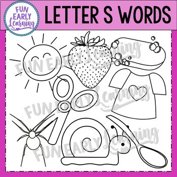 Alphabet Clip Art Set Letter S / Beginning Sounds - Phonics Clip Art Set