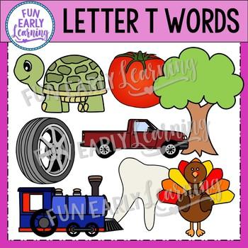 Alphabet Clip Art Set Letter T / Beginning Sounds - Phonics Clip Art Set