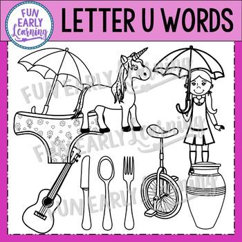 Alphabet Clip Art Set Letter U / Beginning Sounds - Phonics Clip Art Set