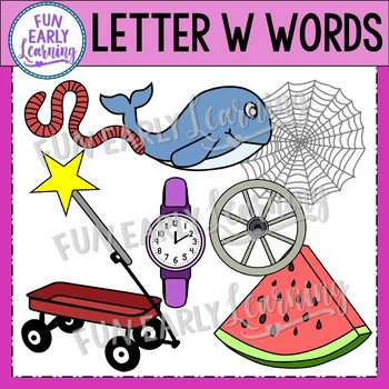 Alphabet Clip Art Set Letter W / Beginning Sounds - Phonics Clip Art Set