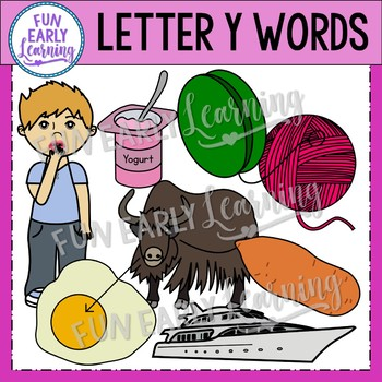 Alphabet Clip Art Set Letter Y / Beginning Sounds - Phonics Clip Art Set