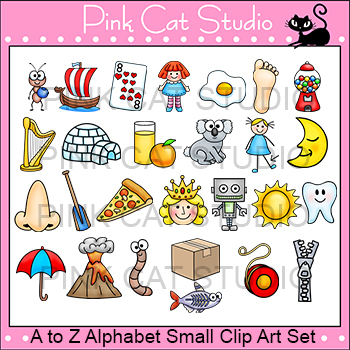 Alphabet Clip Art Small Set - Phonics Clipart Set - Commercial Use Okay