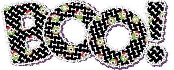 "Alphabet Clip Art, Spooky Halloween Letters, 96 pcs, 4"" High, Vector PDF, PNGs"