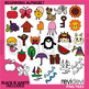 Alphabet Clip Art – Spring Club for Commercial Use Clipart