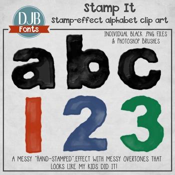Alphabet Clip Art: Stamp It Alphabet Letters