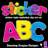 Alphabet Letters Clipart: Sticker Style Bulletin Board Let