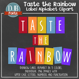 Alphabet Clip Art: Taste the Rainbow Alphabet Letters