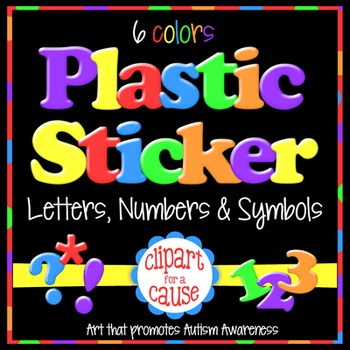 Alphabet Clip Art: VALUE BUNDLE Plastic Sticker Letters Numbers & Symbols-543 pc