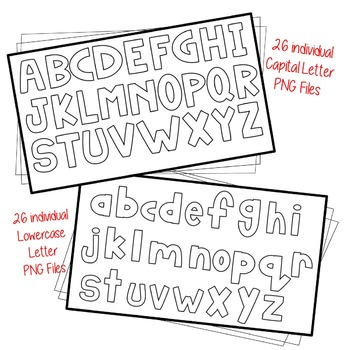 Alphabet Clip Art ~ White