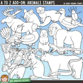"Alphabet Clip Art add-on: ""A to Z Animals"""