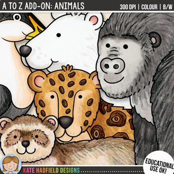 "Alphabet Clip Art add-on: ""Animals"""