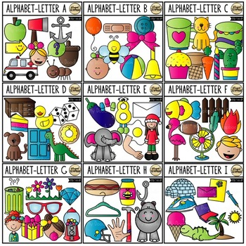 Alphabet (Clip Art for Personal & Commercial Use)