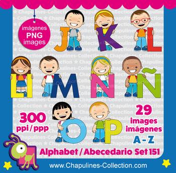 Alphabet Clip Art, from A to Z, Abecedario, PNG images, Set 151