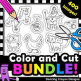 Alphabet Clip Art with Cutting Lines | 400 Piece Clipart BUNDLE