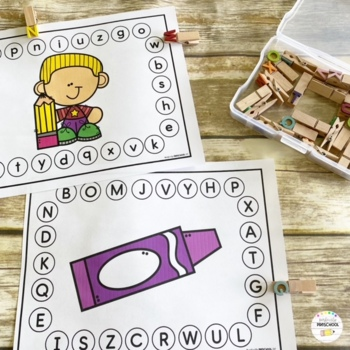 Alphabet Clip Boards