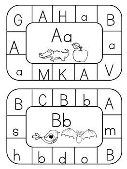 Alphabet Clip Card Activities