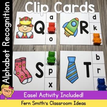 Alphabet Clip Card Center Easy Prep for Uppercase & Lowercase Letters
