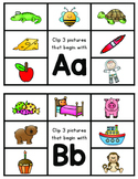 Alphabet Clip Cards for Letter Recognition/Phonics