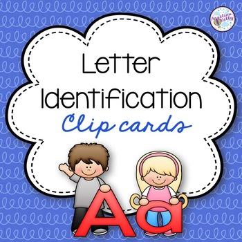 Alphabet Identification Clip Cards