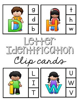 Alphabet Letter Identification Clip Cards