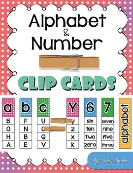 Alphabet and Number - Clip Cards