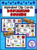 Alphabet Clip Cards: Beginning Sounds